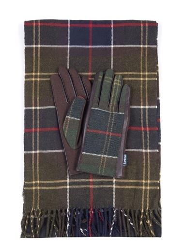 Barbour Tartan Scarf & Glove Set Tn11 Classic Tartan Renkli
